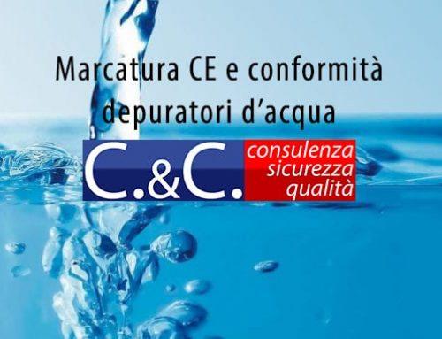 Marcatura CE e conformità depuratori d'acqua