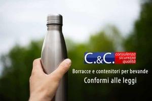 borracce e contenitori per bevande conformi