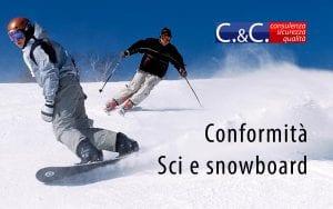 conformità attrezzatura per sci e snowboard