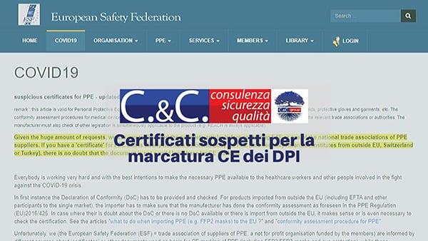marcatura ce certificati