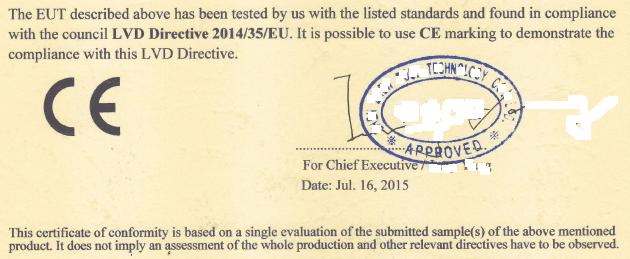 Ecco la sintesi del certificato