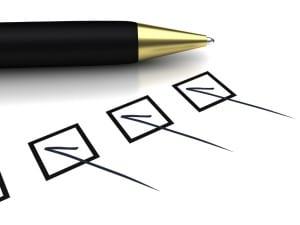 Penna e check list conformità macchine