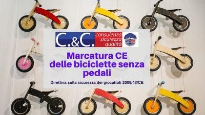 marcatura ce delle biciclette senza pedali