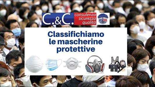 Mascherine con marcatura CE e classe di protezione