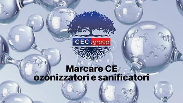Marcatura CE degli ozonizzatori e sanificatori
