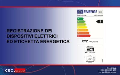 registrazione prodotti elettrici